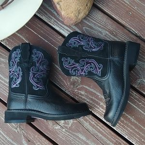 ARIAT ORIGINAL FATBABY BLACK LEATHER BOOTS